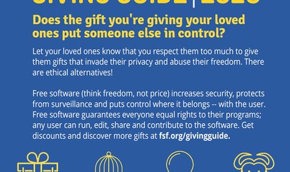 Free Software Foundation Ethical Tech Giving Guide 2020
