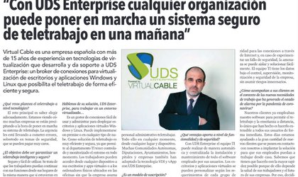 interview with Felix Casado, CEO of Virtual Cable, in El Economista