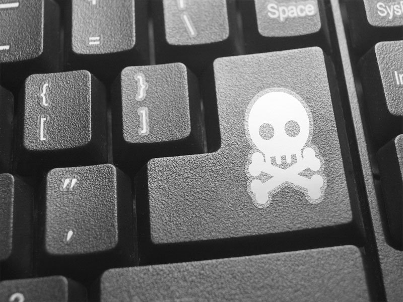 Keyboard with skull