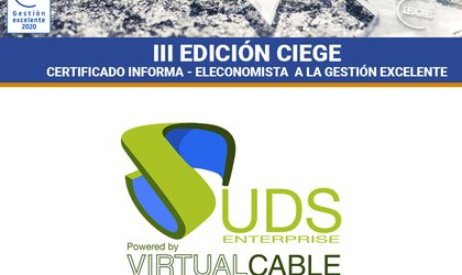 Certificado de Gestión Excelente de Virtual Cable